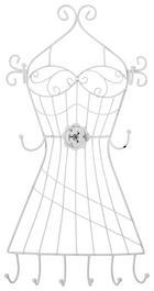 SCHMUCKHALTER - Weiß, Basics, Metall (30/55/8cm) - AMBIA HOME