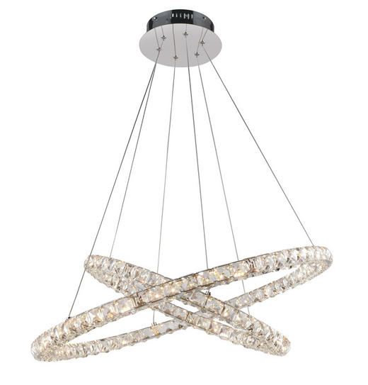 LED-HÄNGELEUCHTE - Chromfarben, LIFESTYLE, Glas/Metall (72/160cm) - Glandor