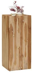 BLUMENSÄULE - Teakfarben, Trend, Holz/Stein (30/70/30cm) - Ambia Home