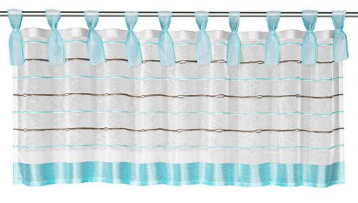 SCHEIBENGARDINE - Türkis/Braun, Textil (140/45cm)
