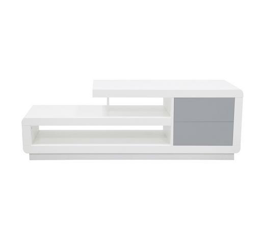 STALAK ZA TV I VIDEO - bijela/siva, Moderno, drvni materijal (140/39,5/47cm) - Novel