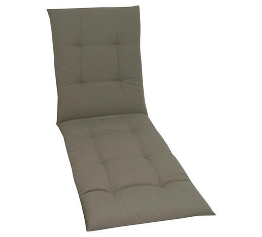 LIEGENAUFLAGE Uni  - Taupe, KONVENTIONELL, Textil (58/190/5cm)