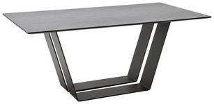 ESSTISCH rechteckig Anthrazit, Schwarz  - Anthrazit/Schwarz, Design, Keramik/Metall (180/90/76cm) - Ambiente