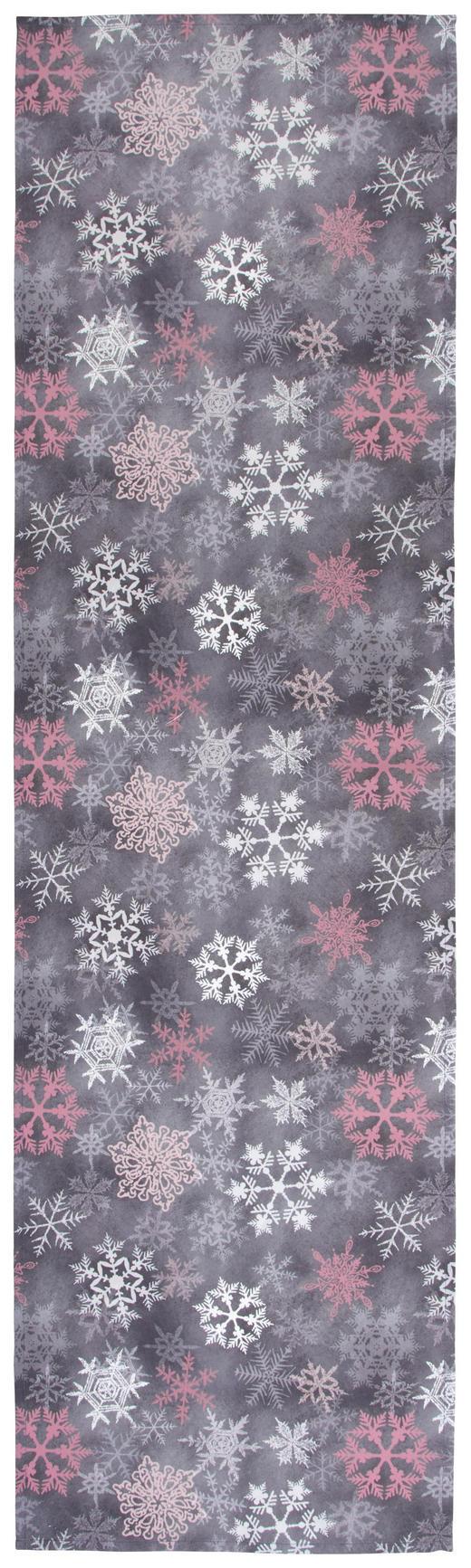TISCHLÄUFER Textil Grau, Rosa, Weiß 40/140 cm - Rosa/Weiß, KONVENTIONELL, Textil (40/140cm) - X-Mas