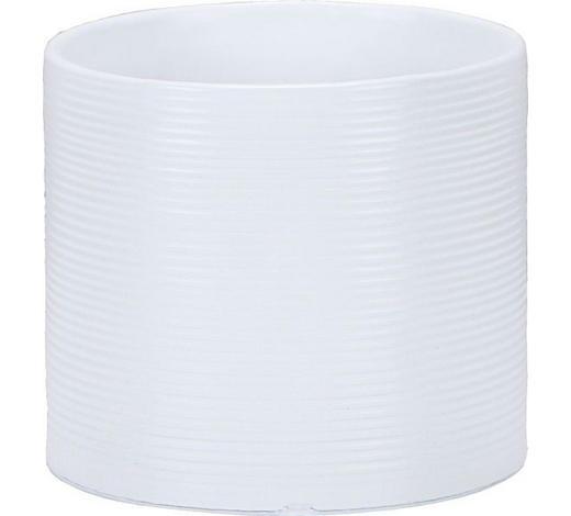 NÁDOBA NA KVĚTINÁČ - bílá, Basics, keramika (14/14/13cm)