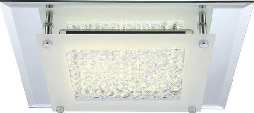 LED-DECKENLEUCHTE - Chromfarben, Design, Glas/Metall (28/28/6cm)