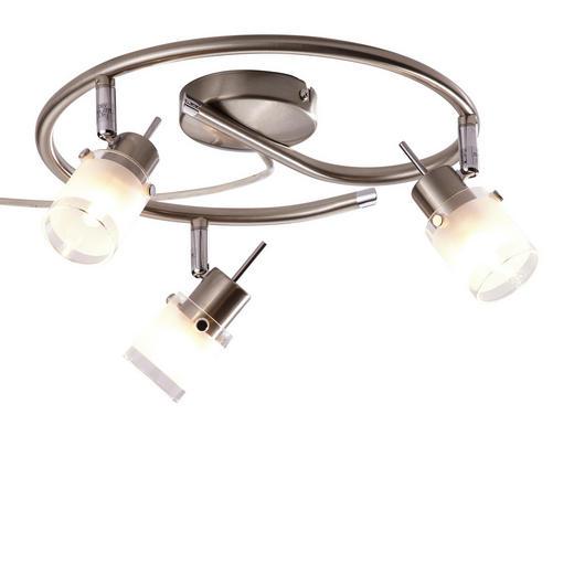 DECKENLEUCHTE - Weiß/Nickelfarben, Design, Glas/Metall (30cm) - Boxxx