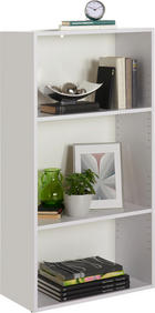 REGAL - bijela/crna, Design, drvni materijal/plastika (60/115,2/32cm) - Carryhome