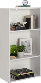 REGAL in 60/115,2/32 cm Weiß - Schwarz/Weiß, Design, Holzwerkstoff/Kunststoff (60/115,2/32cm) - Carryhome