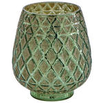 Windlicht Balthild - Grün, KONVENTIONELL, Glas (13,5/15cm) - Ombra