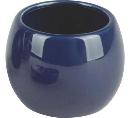 MUNDSPÜLBECHER Keramik - Blau, Basics, Keramik (9/7.5cm)