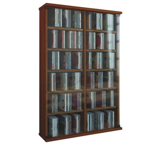 CD-REGAL Nussbaumfarben  - Nussbaumfarben, KONVENTIONELL, Glas/Holzwerkstoff (60/92/18cm)