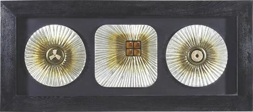 Abstraktes, Strukturen BILD - Silberfarben/Schwarz, LIFESTYLE, Glas/Holz (70/160cm) - Monee
