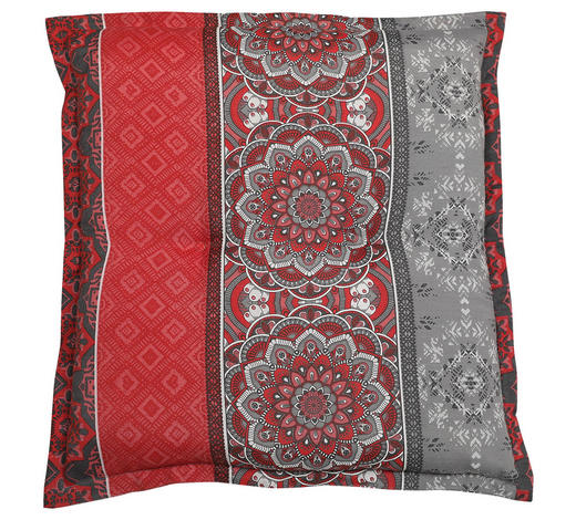 GARTENHOCKERAUFLAGE orientalisch - Rot/Grau, Basics, Textil (50/8/50cm)