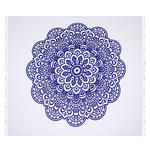 STRANDTUCH Blau, Weiß  - Blau/Weiß, KONVENTIONELL, Textil (210cm) - Esposa