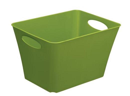 ŠKATLA - zelena, Design, umetna masa (39,2/31/52,6cm) - Rotho