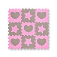 PUZZLE - Rosa/Grau, Basics, Kunststoff (32/32/1cm) - MY BABY LOU