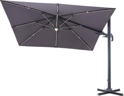Ampelschirm - Anthrazit, Design, Textil/Metall (300/265/300cm) - Ambia Garden