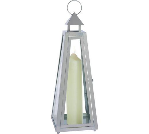 LATERNE - Grau, Design, Metall (25/70/25cm) - Ambia Home