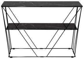 AVLASTNINGSBORD - svart, Klassisk, metall/glas (100/25/70cm)