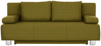 SCHLAFSOFA in Textil Grün - Chromfarben/Grün, Design, Textil/Metall (197/88/89cm) - Xora