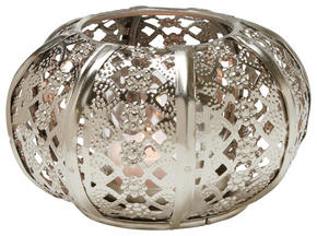 VÄRMELJUSHÅLLARE - silver, Lifestyle, metall/glas (13/7cm) - Ambia Home