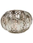 DRŽÁK NA ČAJOVOU SVÍČKU - barvy stříbra, Lifestyle, kov/sklo (13/7cm) - Ambia Home
