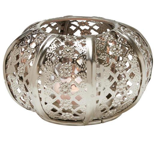 Teelichthalter - Silberfarben, Lifestyle, Glas/Metall (13/7cm) - Ambia Home