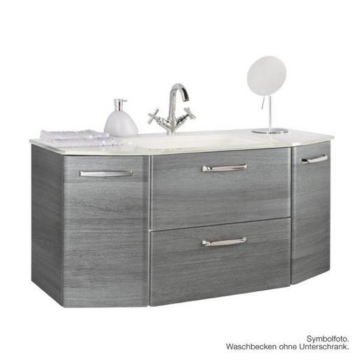 WASCHBECKEN - Weiß, Design, Glas (112/48cm) - XORA