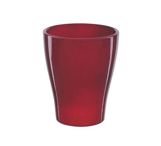NÁDOBA NA KVĚTINÁČ - tmavě červená, Basics, keramika (13/13/17cm)