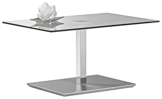 COUCHTISCH rechteckig Chromfarben - Chromfarben, Design, Glas/Kunststoff (90/44-60/60cm)