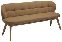SITZBANK in Holz, Leder, Textil Beige, Eichefarben - Eichefarben/Beige, Natur, Leder/Holz (55/84/57cm) - Valnatura