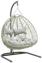 HÄNGESESSEL - Dunkelgrau/Hellgrau, KONVENTIONELL, Kunststoff/Textil (118/206/120cm) - Ambia Garden