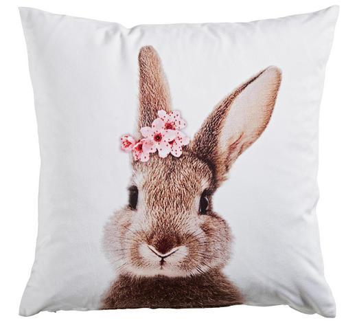 KISSENHÜLLE Rosa, Weiß, Beige 45/45 cm  - Beige/Rosa, KONVENTIONELL, Textil (45/45cm) - Esposa