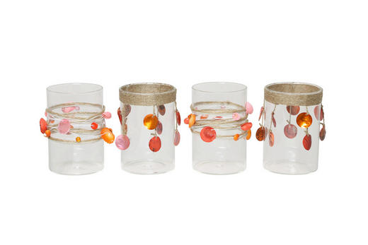 TEELICHTHALTER-SET 4-teilig - Klar, Basics, Glas (9/13cm)