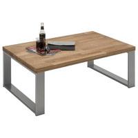 KLUBSKA MIZA, hrast - aluminij/hrast, Design, kovina/les (110/70/41,5cm) - Hom`in