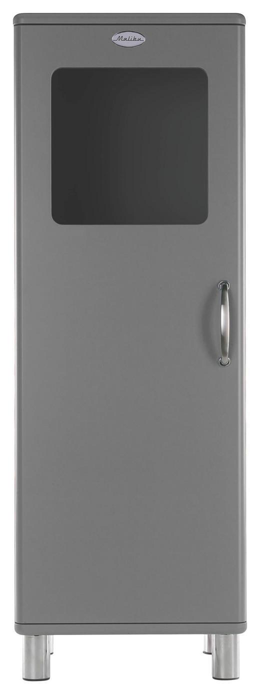 HIGHBOARD lackiert, Melamin Grau - Grau/Nickelfarben, Design, Glas/Holzwerkstoff (50/143/41cm) - Carryhome