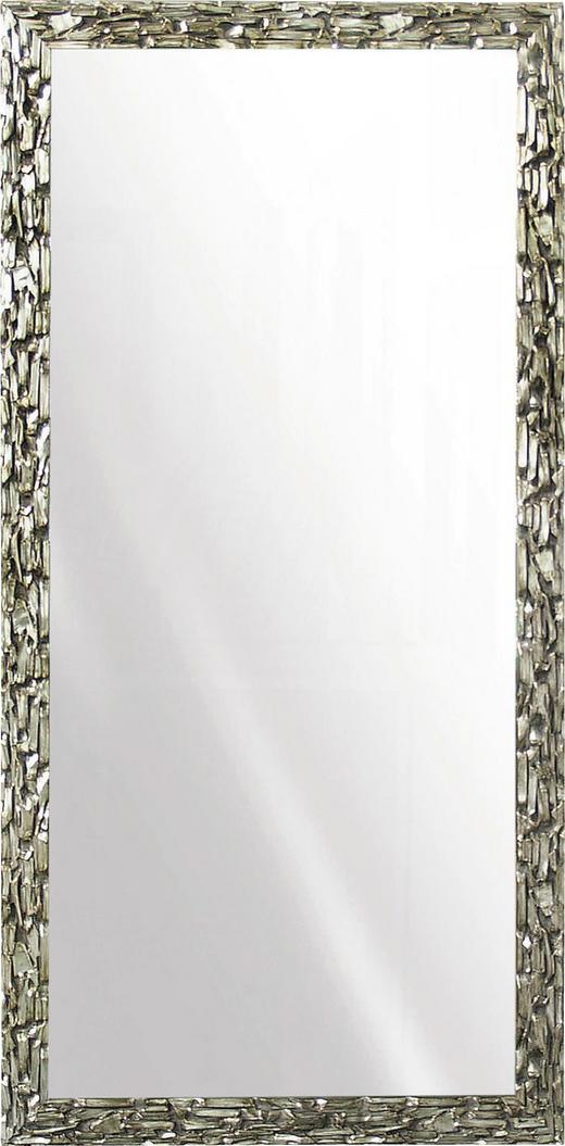WANDSPIEGEL Silberfarben - Silberfarben, Design, Glas/Holz (95/195cm)