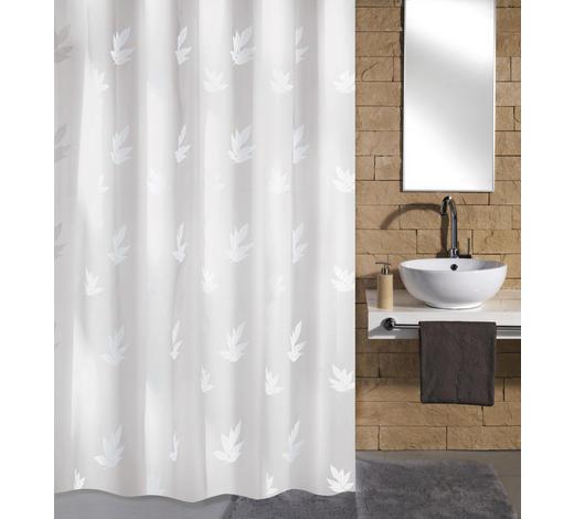 DUSCHVORHANG - Weiß, KONVENTIONELL, Textil (180/200cm) - Kleine Wolke