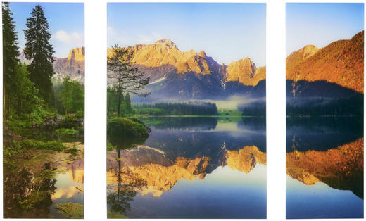 Landschaft & Natur GLASBILD - Multicolor, LIFESTYLE, Glas (60/80/5cm) - Eurographics