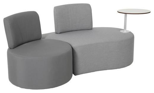LOUNGESOFA Stahl - Dunkelgrau/Grau, Design, Textil/Metall (190/72/75cm) - Ambia Garden
