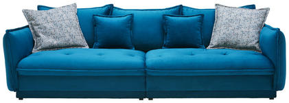 BIGSOFA in Textil Petrol  - Petrol/Multicolor, Design, Textil (295/88/134cm) - Hom`in
