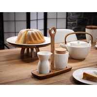 MILCHKÄNNCHEN - Creme/Braun, Basics, Holz/Keramik (0,2l) - Villeroy & Boch