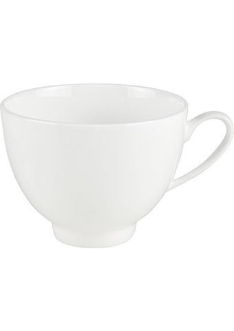 SKODELICA ZA KAVO ROUND - bela, Konvencionalno, keramika (9/6,5cm) - Novel