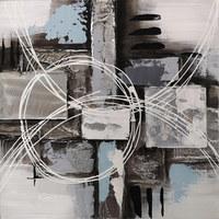 ULJENA SLIKA - bijela/siva, Design, drvo/metal (30/30/2.5cm) - Monee