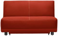 SCHLAFSOFA in Textil Orange  - Schwarz/Orange, MODERN, Holz/Textil (145/90/96cm) - Novel