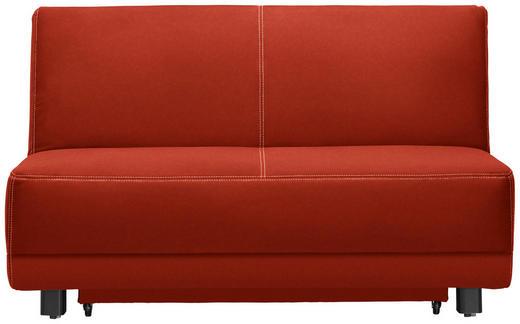 SCHLAFSOFA Orange - Schwarz/Orange, MODERN, Holz/Textil (145/90/96cm) - Novel