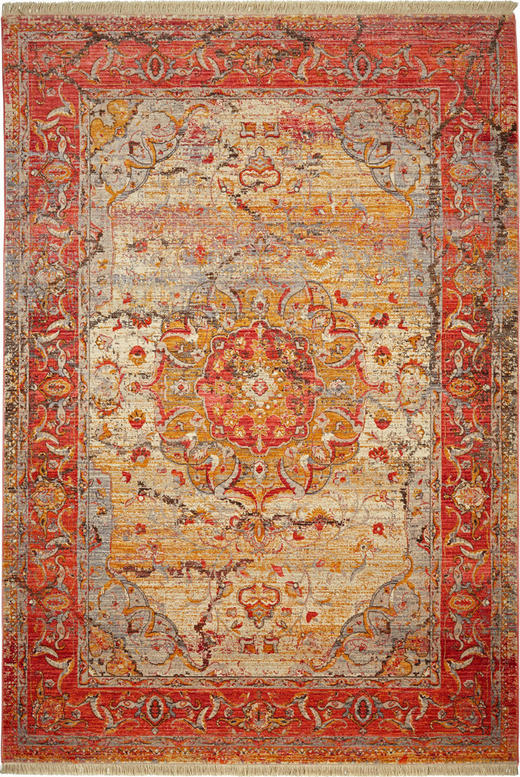 VINTAGE-TEPPICH - Rot, LIFESTYLE, Textil (120 153 cm) - Esposa