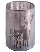 TEELICHTGLAS - Grau, Glas (18/24cm) - Ambia Home