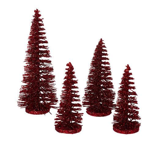 Weihnachtsbaum Rot.Deko Weihnachtsbaum 4er Set Rot